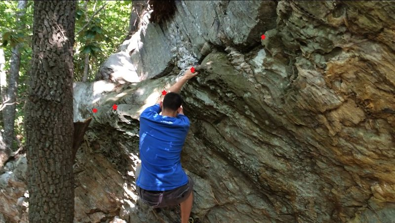 Rock Climbing Photo: Middle of Hot Cross Buns