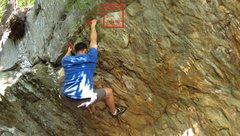 Rock Climbing Photo: End of Hot Cross Buns
