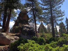 Rock Climbing Photo: Sleepy Bear and Nightmare Towers through the trees...
