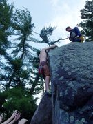 Rock Climbing Photo: The top out.