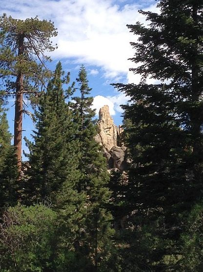 Rock Climbing Photo: Nightmare Tower through the trees, Big Bear South