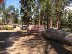 Rock Climbing Photo: Bluff Mesa Group Camp, Big Bear South