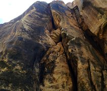 Rock Climbing Photo: the three bolted aretes. Left most is Vanilla Vood...