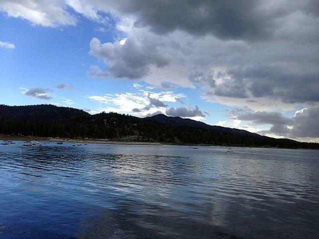 Rock Climbing Photo: Big Bear Lake from Hwy 18, Big Bear North