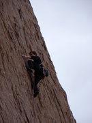 Rock Climbing Photo: Crux moves on Alabama Hills Gang