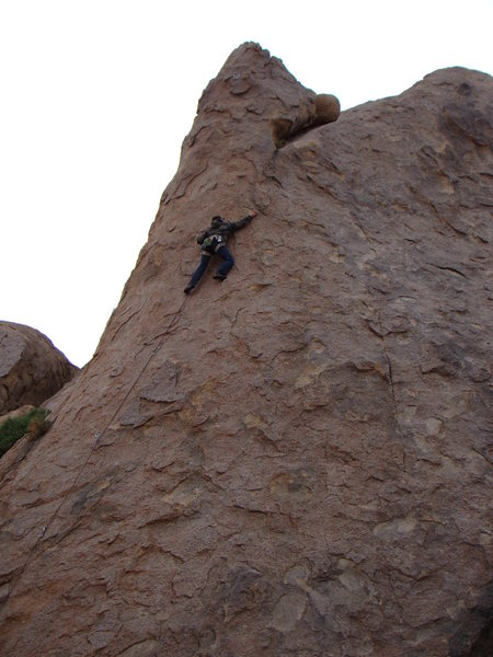 Rock Climbing Photo: Kevin Gallay leading Mon Cherie