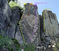 Rock Climbing Photo: A few of the routes at Berkeley Camp
