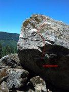 Rock Climbing Photo: Photo topo of Dr Mindbender