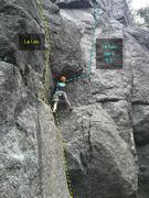 Rock Climbing Photo: La Lou, var 1