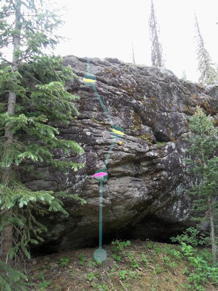 Rock Climbing Photo: Beta shot for Gartenbeere, V0.