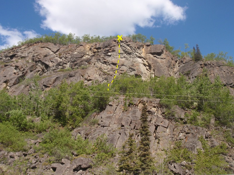 Rock Climbing Photo: Look for the blank slab protected by a bolt/chain ...