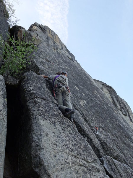 Rock Climbing Photo: a view of most of the route