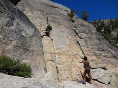 Rock Climbing Photo: Climber on the start of CA Love. The Chronic start...