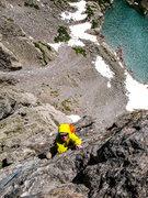 Rock Climbing Photo: Pitch 6(?). Petit Grepon, S. Face, 6/2014.