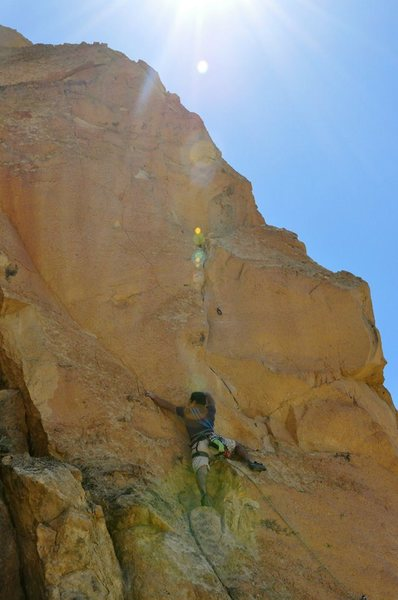 Climbing at Dihedrals , Smith Rock, OR.  2013.