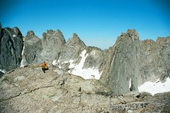 Rock Climbing Photo: From the top of Pingora. You can see the descent f...