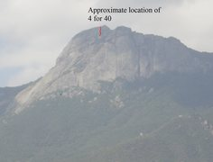 Rock Climbing Photo: Approximate location of 4 for 40