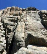 Rock Climbing Photo: Me leading up the homo...such a fun climb, the hea...