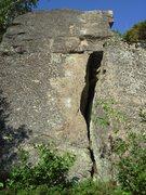 Rock Climbing Photo: Nasubi.  For full value, stay on arete left of chi...