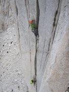 Rock Climbing Photo: Luke demonstrating his mad OW skills