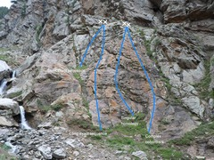 Rock Climbing Photo: shows routes.