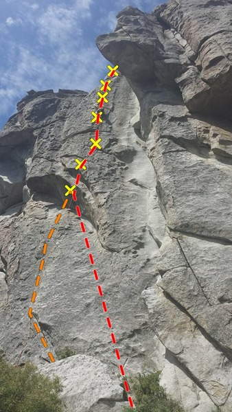 Rock Climbing Photo: for some variety instead of starting up the lower ...