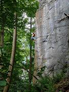 Rock Climbing Photo: Preparation H (mid Crux)- photo by matt
