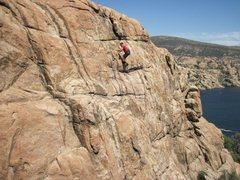 Rock Climbing Photo: My brother Robert Wagner on Quartz movement.