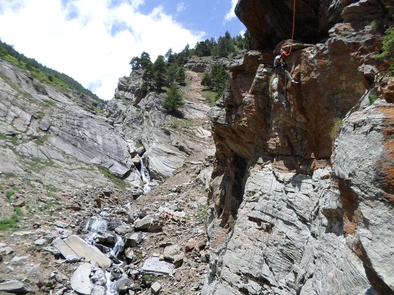 Rock Climbing Photo: Michael Decker bolting Hairy Dog.