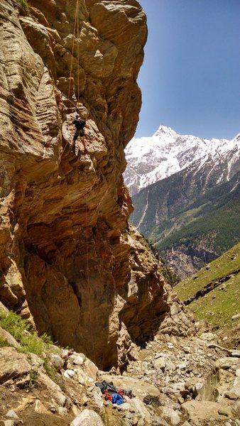 Rock Climbing Photo: Luke Wolcott bolting Inconsistency.