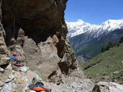 Rock Climbing Photo: another shot of the view below Inconsistency and I...