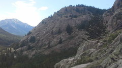 Rock Climbing Photo: East face if Monitor Rock from across the hill.