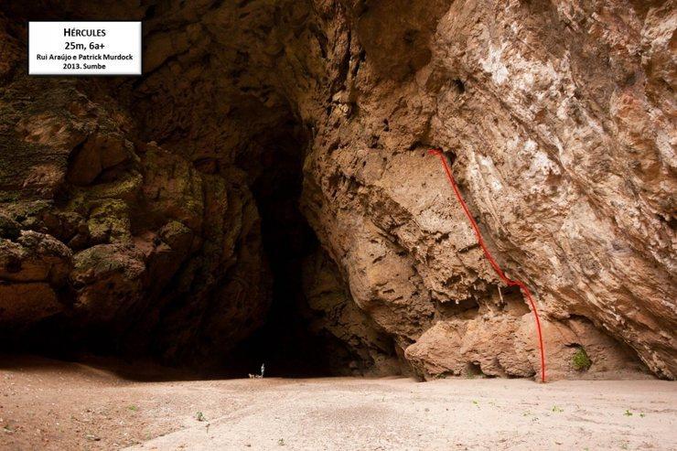 Rock Climbing Photo: Basic topo of route. Topo Credit: R. Araujo