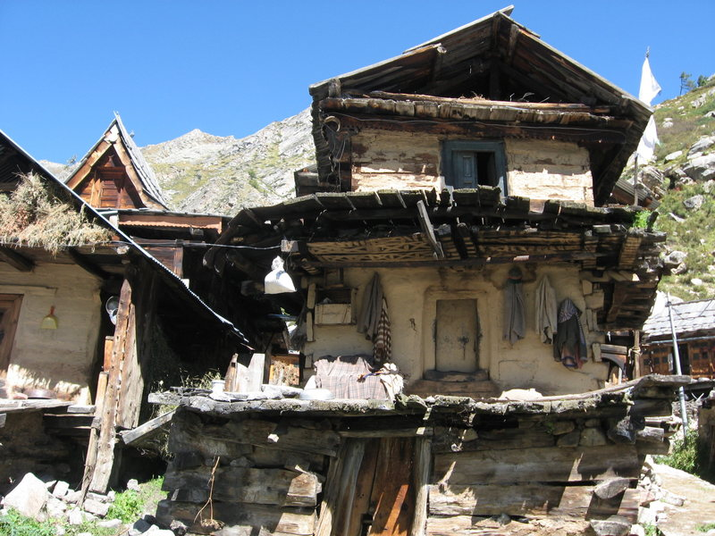 traditional-style Kinnauri house. (in Chitkul)
