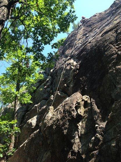 Rock Climbing Photo: Eastern Bloc on a splitter day.