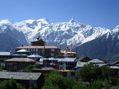 Rock Climbing Photo: Kalpa village and view of Kinner Kailash range (18...