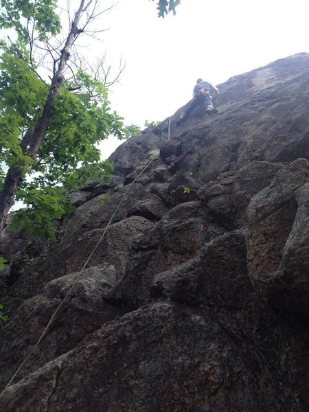 Rock Climbing Photo: Crux slab section.