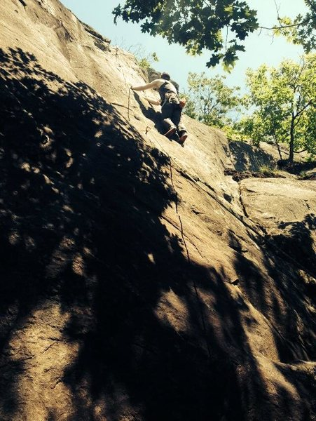 Rock Climbing Photo: Barefoot climbing.