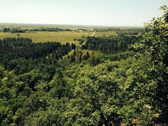 Rock Climbing Photo: The view of the Ottawa Valley.  The road and appro...