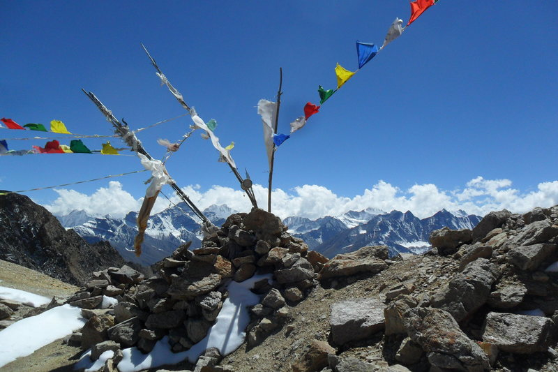 view from a 17000ft pass.  lots of trekking and mountaineering opportunities in Kinnaur, FYI.