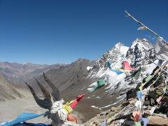 Rock Climbing Photo: rest day trek to 17000ft pass.  Hindu trishula and...