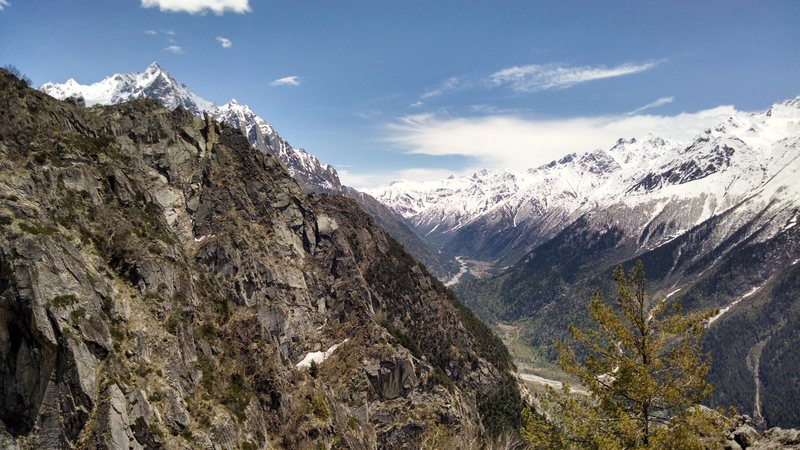 view of upper Sangla valley.