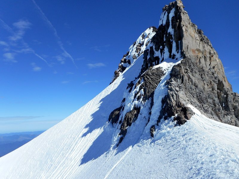 The summit pinnacle. Photo taken July 5, 2014.