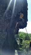 Rock Climbing Photo: Good wall for those hot days