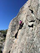Rock Climbing Photo: Entering the thin section