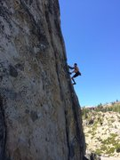 Rock Climbing Photo: Leading the arete