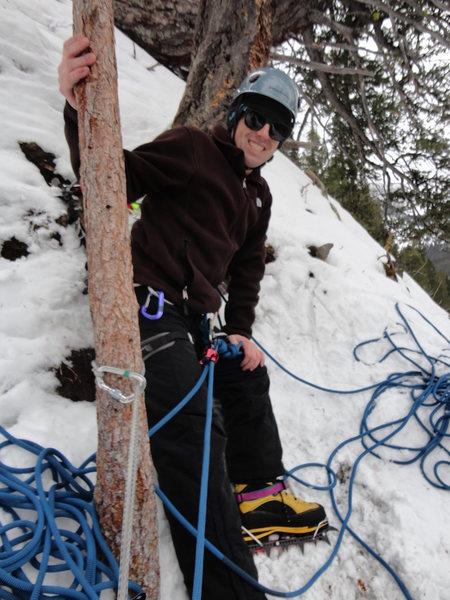 Rock Climbing Photo: Ice Climbing in Hyalite Canyon