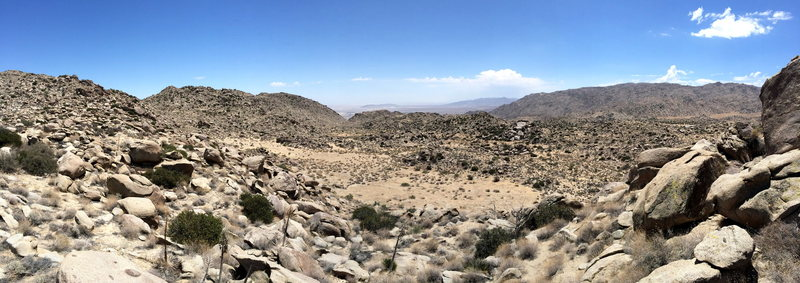View from the East ridge down to Borrego Springs