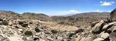 Rock Climbing Photo: View from the East ridge down to Borrego Springs