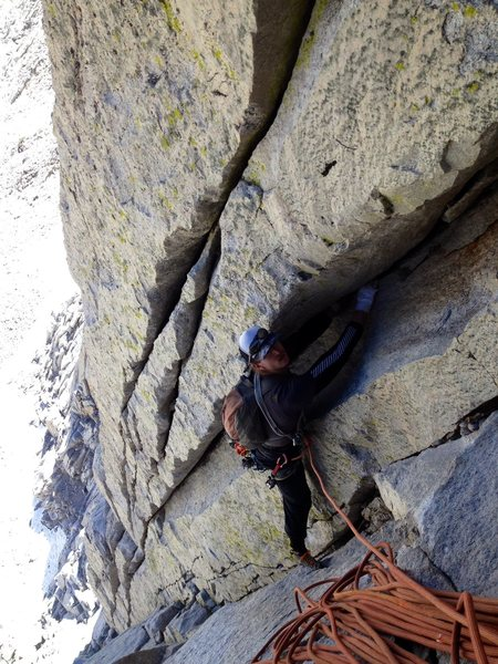 "Rock Climbing Photo: Chris Orozco following the exceptional ""Tripl..."
